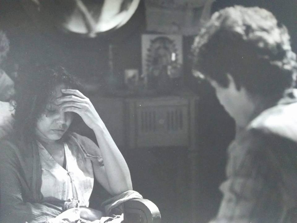 Junto a Vladimir Cruz en la novela La Botija. Foto tomada de Isla Local.