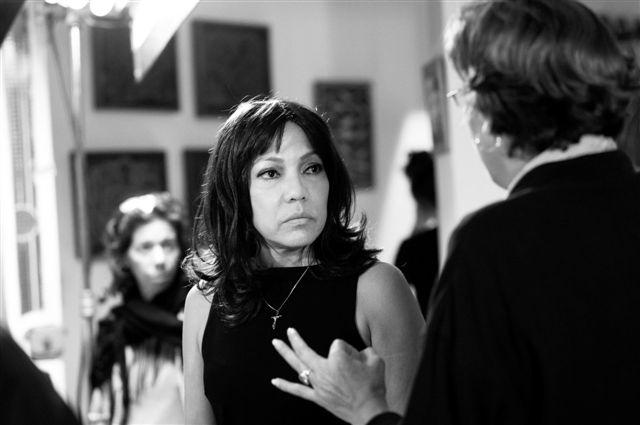 Luisa María Jiménez junto a Magda González Grau. Imagen tomada de la Agencia Cubana de Noticias